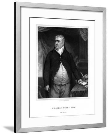 Charles James Fox, British Politician-H Robinson-Framed Giclee Print