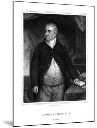 Charles James Fox, British Politician-H Robinson-Mounted Giclee Print