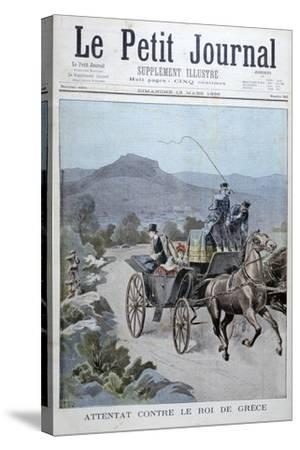 Attempted Attack on the King of Greece, 1898-Henri Meyer-Stretched Canvas Print