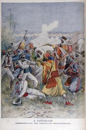 Assassination of the European Consuls, Djeddah, 1895-Henri Meyer-Framed Giclee Print