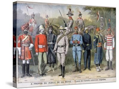 Military Uniforms of the British Colonial Army, 1897-Henri Meyer-Stretched Canvas Print