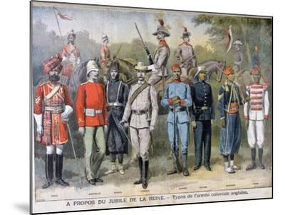 Military Uniforms of the British Colonial Army, 1897-Henri Meyer-Mounted Giclee Print