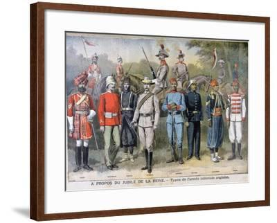 Military Uniforms of the British Colonial Army, 1897-Henri Meyer-Framed Giclee Print