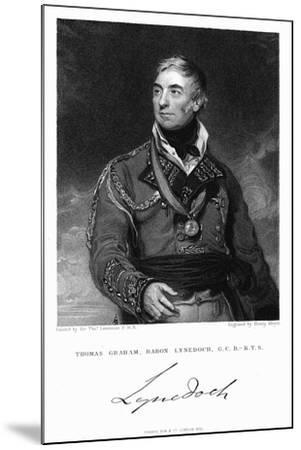Thomas Graham, Baron Lynedoch (1748-184), British Soldier, 1831-Henry Meyer-Mounted Giclee Print