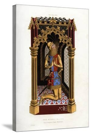 The Black Prince, C1355-Henry Shaw-Stretched Canvas Print