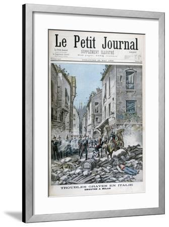 Serious Disorders and Rioting in Milan, Italy, 1898-Henri Meyer-Framed Giclee Print
