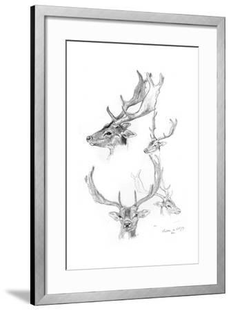 Stags' Heads, 1898-Henry Moore-Framed Giclee Print