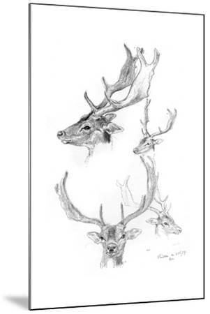 Stags' Heads, 1898-Henry Moore-Mounted Giclee Print