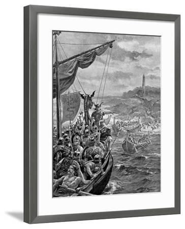 An Attack of the Danes on Ireland, 9th Century Ad-Henry Payne-Framed Giclee Print