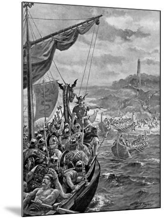An Attack of the Danes on Ireland, 9th Century Ad-Henry Payne-Mounted Giclee Print