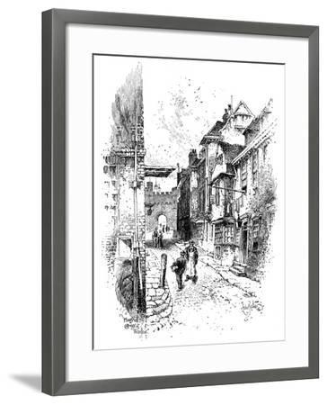 Henry VIII's Gateway, Windsor Castle, C1888-Herbert Arthur-Framed Giclee Print