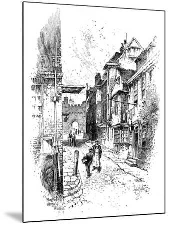 Henry VIII's Gateway, Windsor Castle, C1888-Herbert Arthur-Mounted Giclee Print