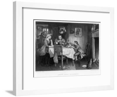 Watt's First Experiment, 18th Century-Herbert Bourne-Framed Giclee Print