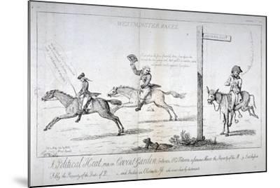 Westminster Races..., 1784-Isaac Cruikshank-Mounted Giclee Print