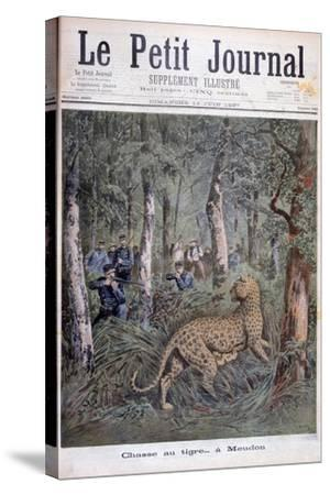 Hunting an Excaped Leopard, Meudon, Paris, 1897-Henri Meyer-Stretched Canvas Print