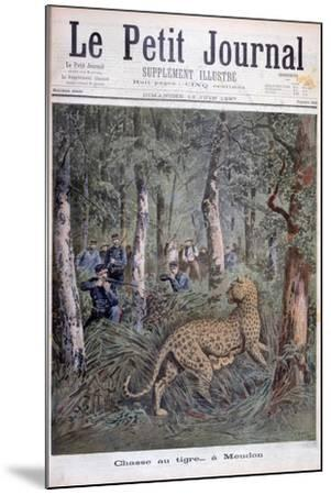 Hunting an Excaped Leopard, Meudon, Paris, 1897-Henri Meyer-Mounted Giclee Print
