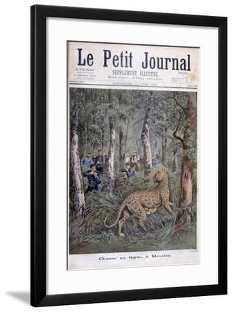 Hunting an Excaped Leopard, Meudon, Paris, 1897-Henri Meyer-Framed Giclee Print
