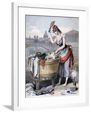 Marianne, the Queen of the Washerwomen, 1893-Henri Meyer-Framed Giclee Print