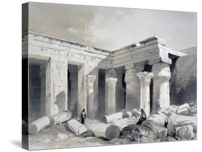 Medinet Abou, Thebes, Egypt, 19th Century-Henry Pilleau-Stretched Canvas Print