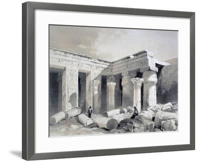 Medinet Abou, Thebes, Egypt, 19th Century-Henry Pilleau-Framed Giclee Print