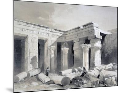 Medinet Abou, Thebes, Egypt, 19th Century-Henry Pilleau-Mounted Giclee Print