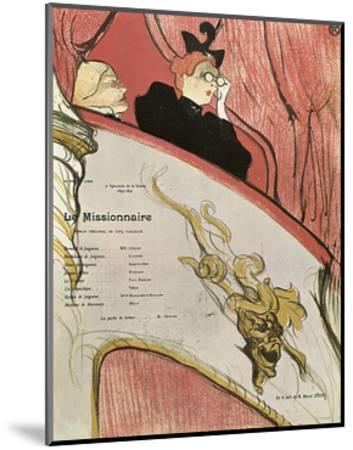 Le Missionaire, 1894-Henri de Toulouse-Lautrec-Mounted Giclee Print