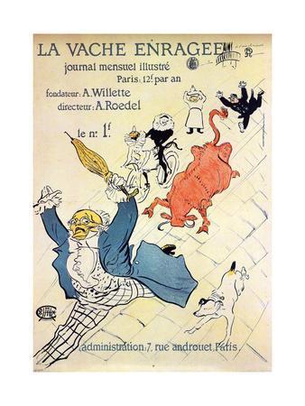 La Vache Enragée, 1896-Henri de Toulouse-Lautrec-Framed Giclee Print