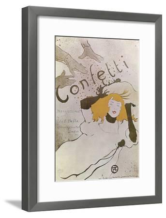 Confetti, 1893-Henri de Toulouse-Lautrec-Framed Giclee Print