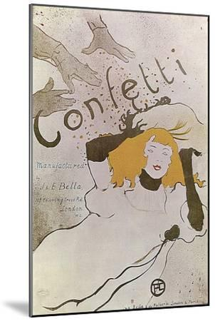 Confetti, 1893-Henri de Toulouse-Lautrec-Mounted Giclee Print