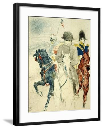 The History of Napoleon I' (Rejected Design of a Poster to the Boo), 1895-Henri de Toulouse-Lautrec-Framed Giclee Print
