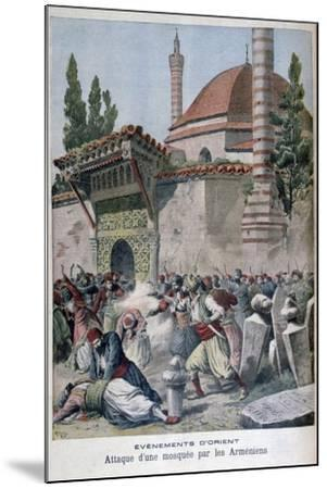 An Attack on a Mosque by Armenians, 1895-Henri Meyer-Mounted Giclee Print