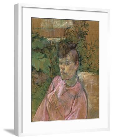 Woman in the Garden of Monsieur Forest, 1889-1891-Henri de Toulouse-Lautrec-Framed Giclee Print
