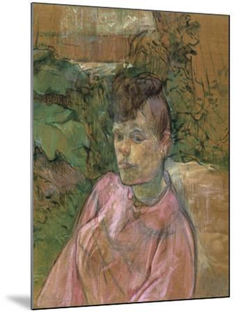 Woman in the Garden of Monsieur Forest, 1889-1891-Henri de Toulouse-Lautrec-Mounted Giclee Print