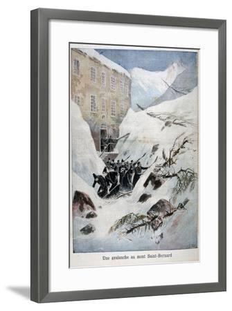 Avalanche at Mont Saint-Bernard, Switzerland, 1897-Henri Meyer-Framed Giclee Print
