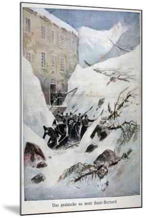 Avalanche at Mont Saint-Bernard, Switzerland, 1897-Henri Meyer-Mounted Giclee Print