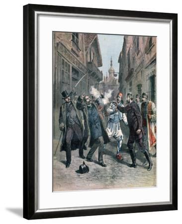 Assasination of M Beltchef in the Presence of Mr Stambouloff, Bulgaria, 1891-Henri Meyer-Framed Giclee Print