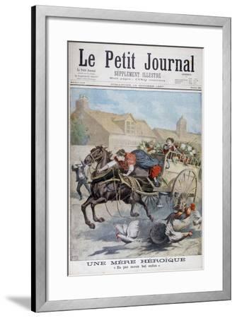 An Heroic Mother, 1897-Henri Meyer-Framed Giclee Print