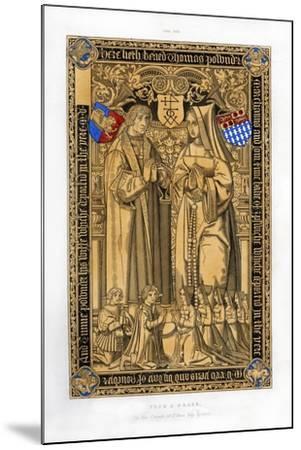 Thomas Pownder, Merchant and Bailiff of Ipswich, 1525-Henry Shaw-Mounted Giclee Print