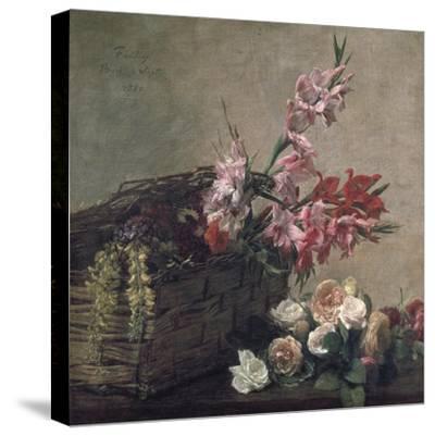 Gladioli and Roses, 1880-Henri Fantin-Latour-Stretched Canvas Print