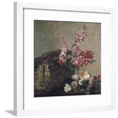 Gladioli and Roses, 1880-Henri Fantin-Latour-Framed Giclee Print