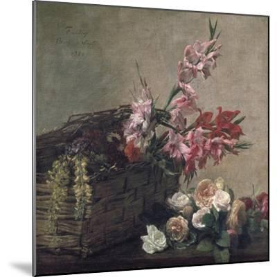 Gladioli and Roses, 1880-Henri Fantin-Latour-Mounted Giclee Print