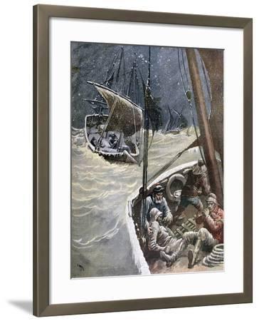Newfoundland Fishermen, 1892-Henri Meyer-Framed Giclee Print