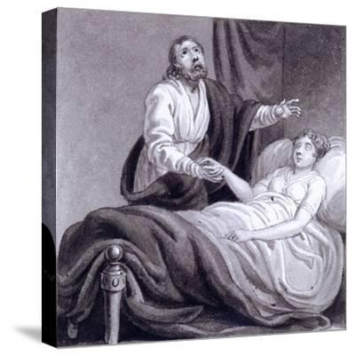 The Raising of Jairus's Daughter, C1810-C1844-Henry Corbould-Stretched Canvas Print