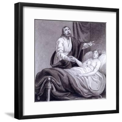 The Raising of Jairus's Daughter, C1810-C1844-Henry Corbould-Framed Giclee Print