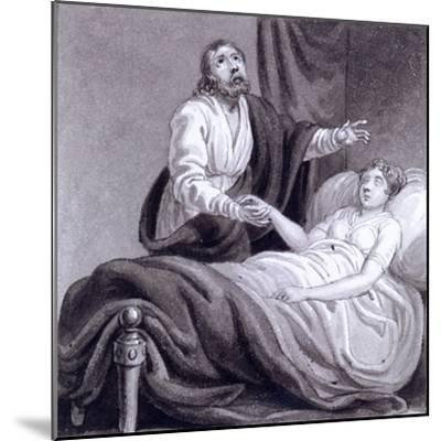 The Raising of Jairus's Daughter, C1810-C1844-Henry Corbould-Mounted Giclee Print