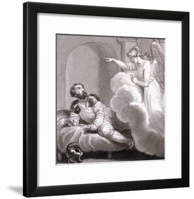 Angel Appearing to Cornelius, C1810-C1844-Henry Corbould-Framed Giclee Print