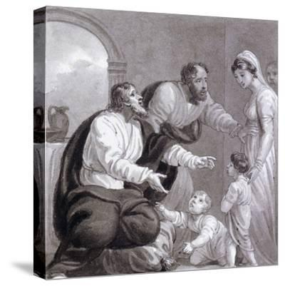 Christ and the Children, C1810-C1844-Henry Corbould-Stretched Canvas Print