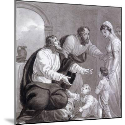 Christ and the Children, C1810-C1844-Henry Corbould-Mounted Giclee Print