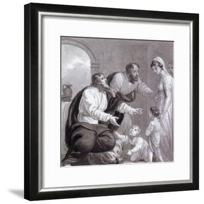 Christ and the Children, C1810-C1844-Henry Corbould-Framed Giclee Print
