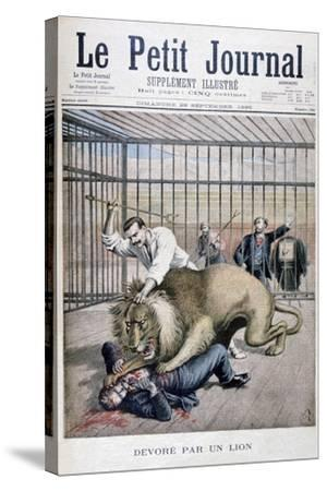 Lion Attack, 1895-Henri Meyer-Stretched Canvas Print